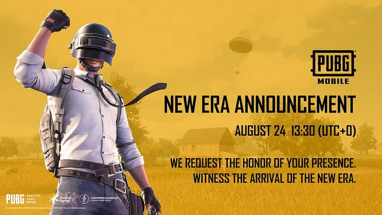 New Era's Announcement by PUBG Mobile on 24 August